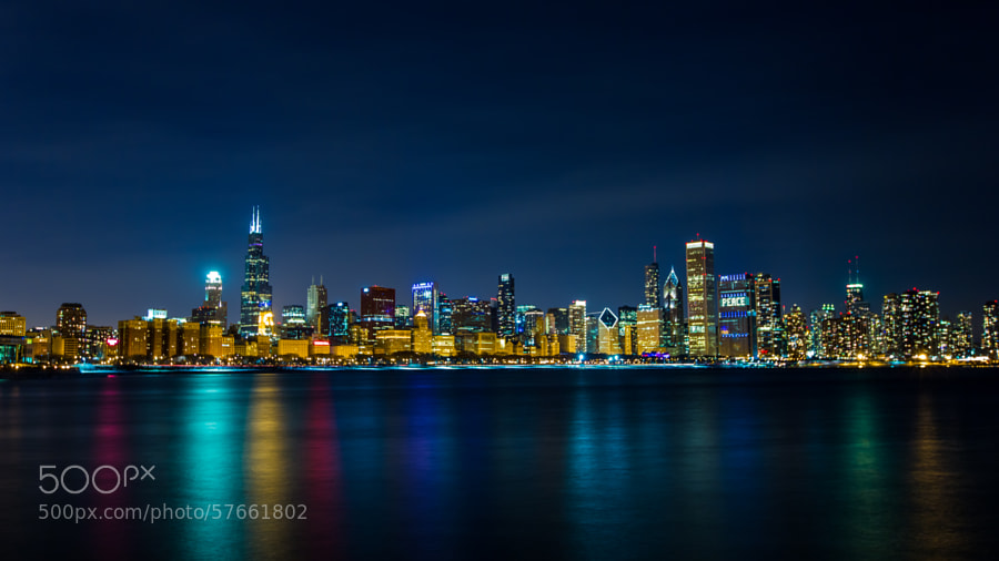 Photograph Chicago from the Adler Planetarium by Steven Suwatanapongched on 500px