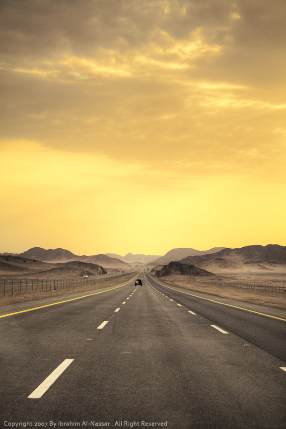Photograph Road to Mountains by Ibrahim  Alnassar on 500px