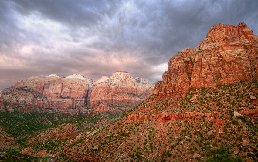 Photograph Stormy afternoon at Zion National Park by Adam Pinnell on 500px