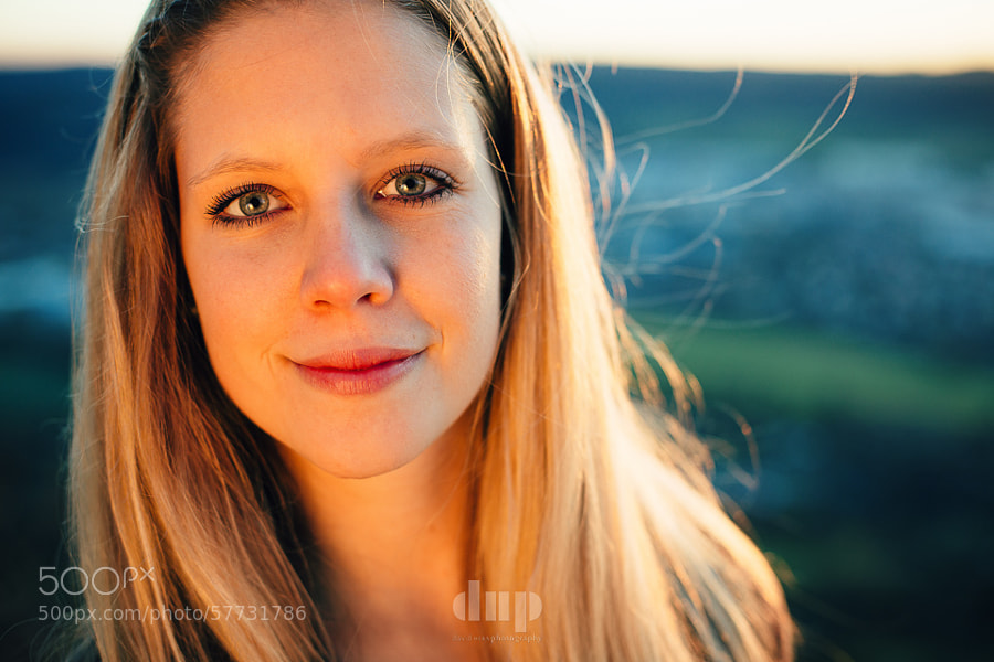 First in a series of portraits I took with two friends in the hills around Jena last October. This one's of Josephine.