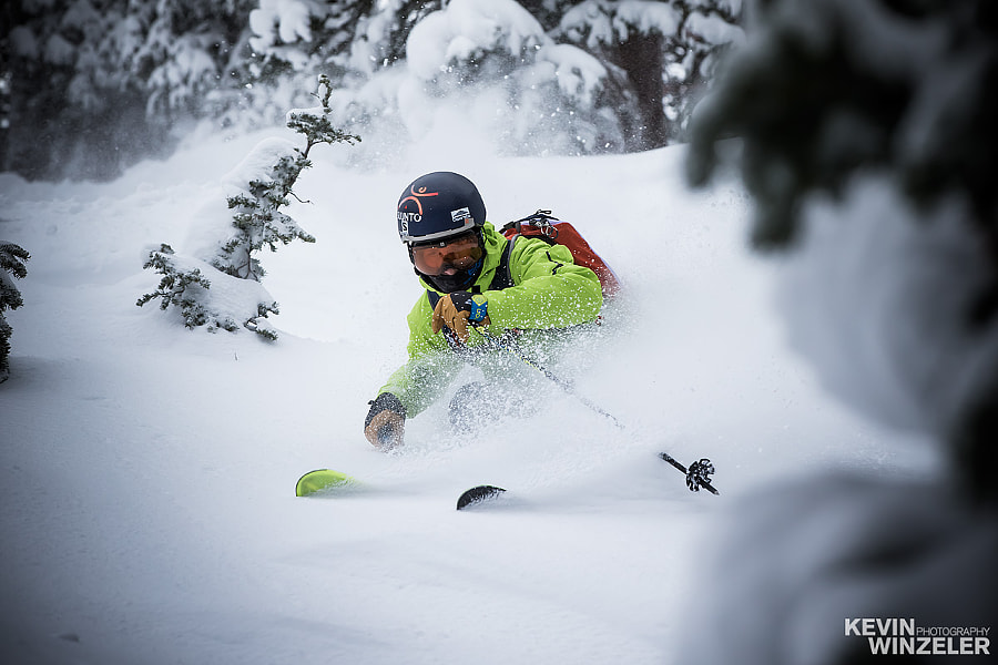 Photograph Powder Skiing by KevinWinzeler.com  ~ sports, lifestyle on 500px