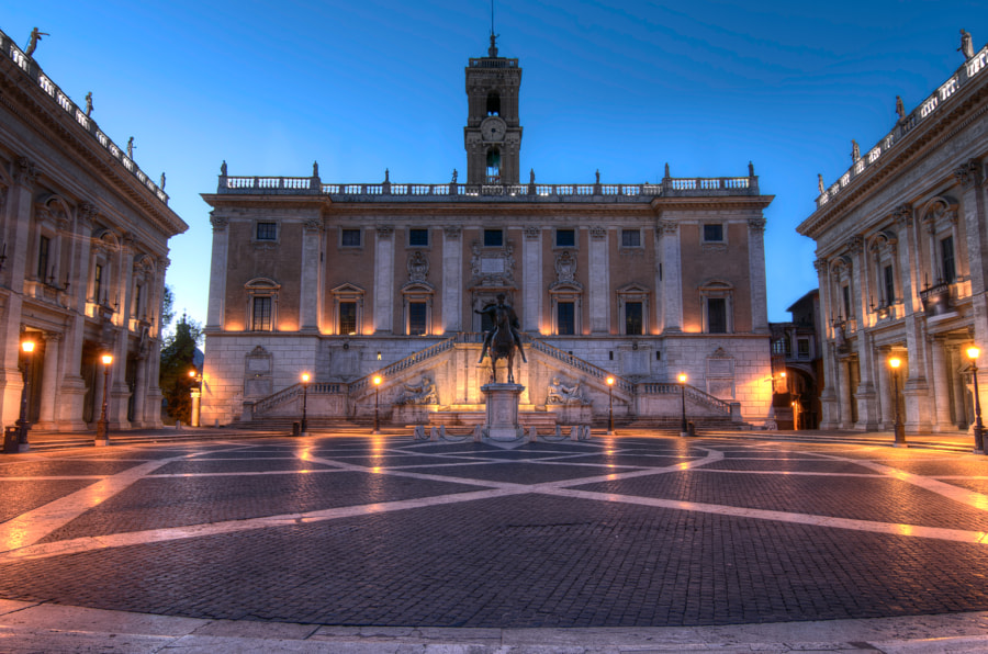 Campidoglio at blue hour by Alireza Behrooz on 500px.com