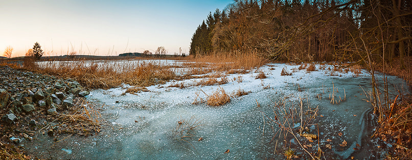 Photograph Frozen lake panorama II by Tomas Pospichal on 500px
