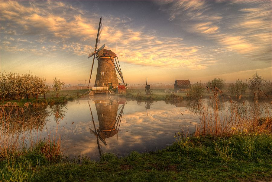 Kinderdijk morning by Béla Stéhli on 500px.com