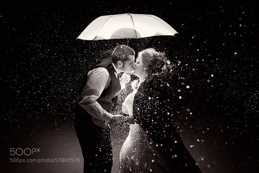 Photograph Winter's Wedding Kiss B&W by Tracy Parker on 500px