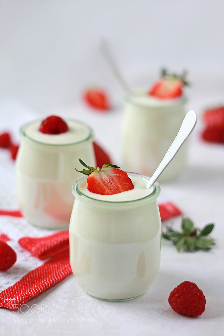 Photograph Yogurt with strawberries by Lily Almazova on 500px