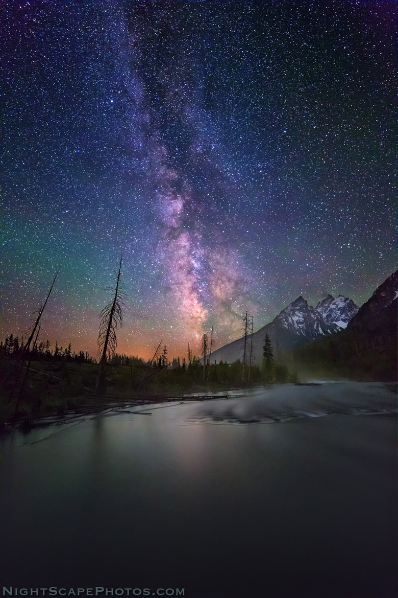 Photograph Milky Way over Tetons and String Lake by Royce's NightScapes on 500px