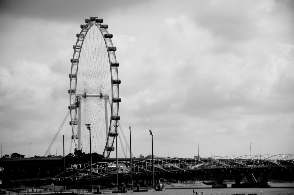 Photograph Singapore Flyer and Helix Bridge by Rizky. W. Limbong on 500px