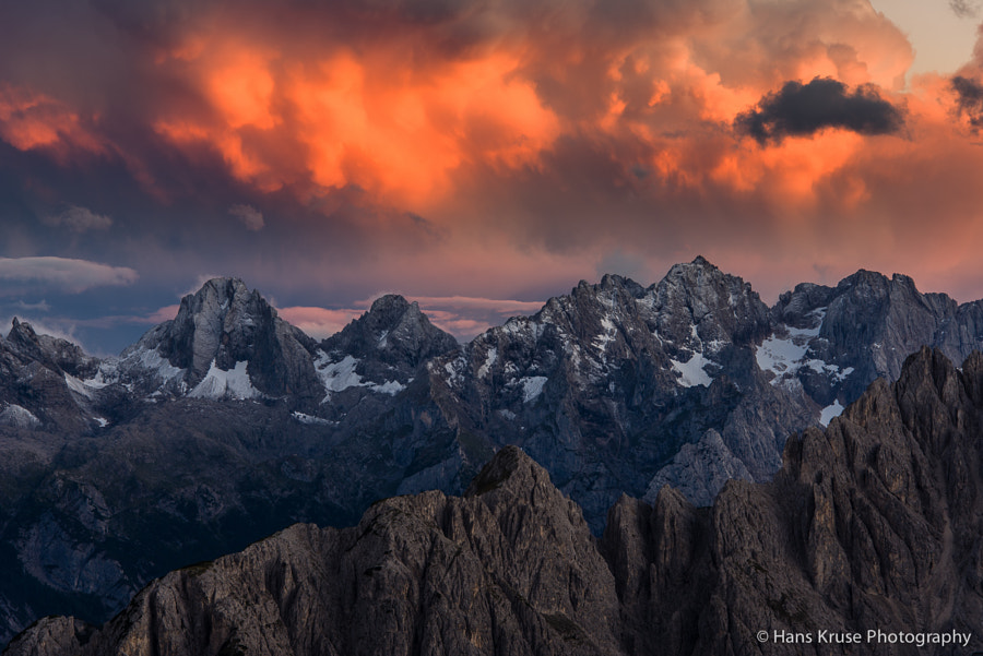 This photo was shot during the Dolomites East September 2013 photo workshop when a storm passed over the Tre Cime di Lavaredo. There are two photo workshops in the Dolomites East in 2014. Please check the schedule here http://www.hanskrusephotography.com/Hans-Kruse-Photo-Workshops/Workshops