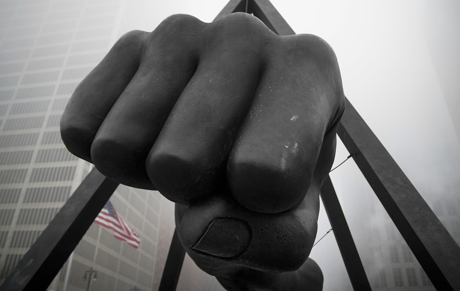 Joe Louis Fist in the Fog by Tina Logan on 500px.com