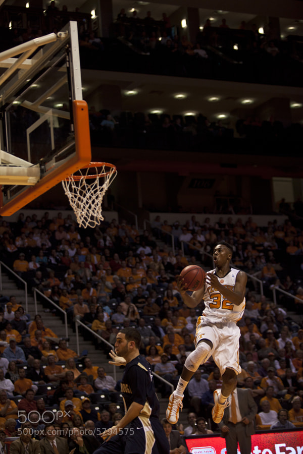 Scotty Hopson prepares to dunk over Chattanooga defender Omar Wattad on Friday, Nov. 12. Hopson was voted as MVP for the NIT Season Tip-off tournament as the Vols went on to win the championship in a 78-68 victory over Villanova.