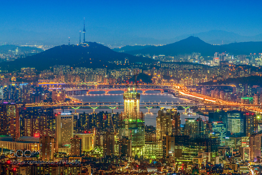 Photograph Night At Seoul by Min Soo Kim on 500px