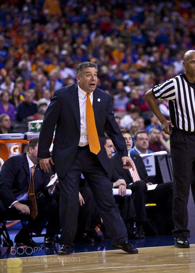 Bruce Peal reacts to a call during a game against Michigan on Friday, March 18. Pearl was fired Monday after serving 6 seasons as the head coach of Tennessee's basketball team.