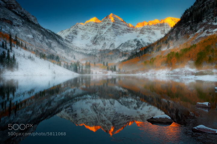 Photograph Maroon Bells Sunrise by Kevin McNeal on 500px