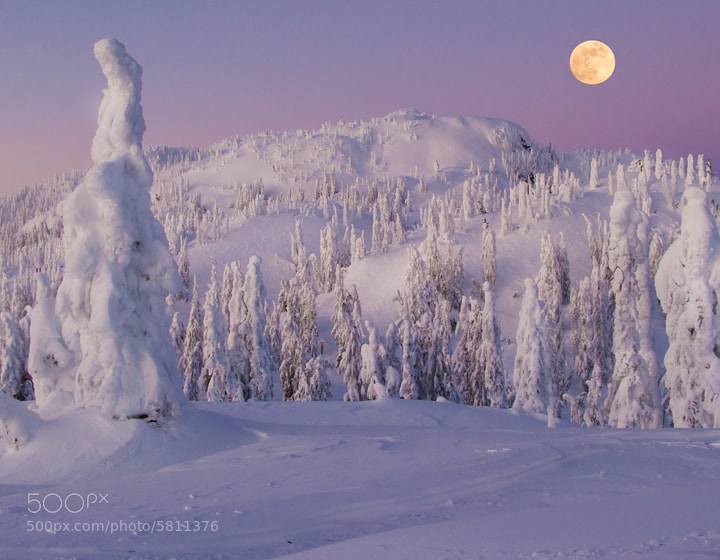 Photograph Full Moon Over Seymour by Kevin McNeal on 500px