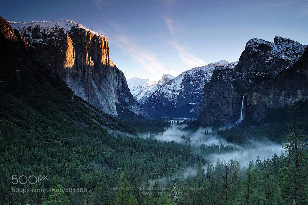 Photograph Yosemite Sunrise by Pete Wongkongkathep on 500px