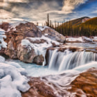 Постер, плакат: Sunrays over Elbow Falls