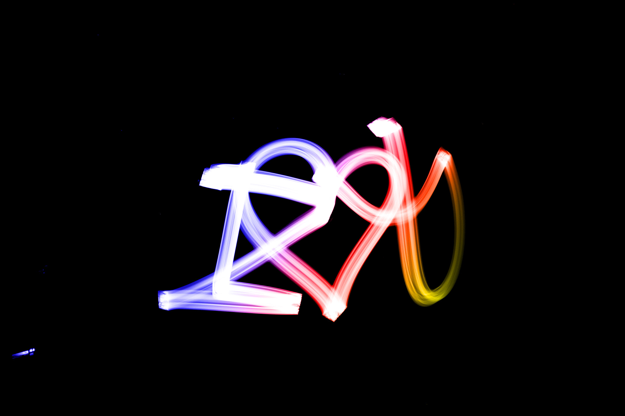 Photograph Lightpainting for my love by Tomás De Bona on 500px