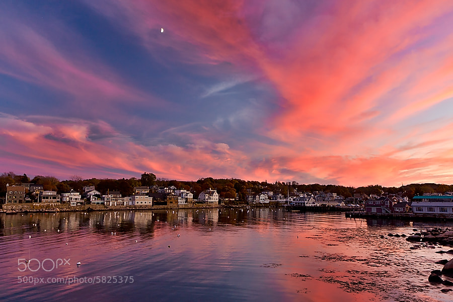Photograph Sunset over Rockport, MA by Max Khaskin on 500px