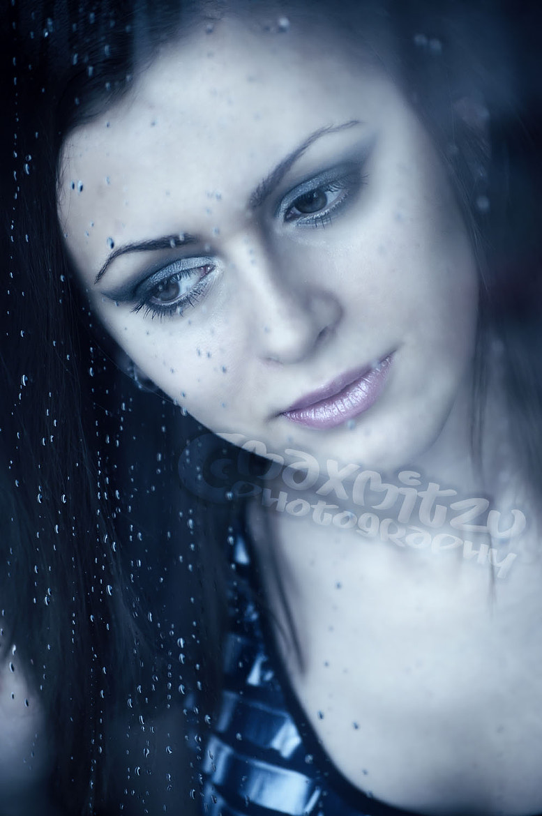 Photograph Young girl watching through the window, after a rain. Portrait. by Mihai Maxim on 500px