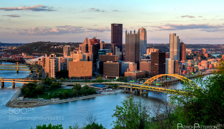 Photograph Pittsburgh Skyline at Sunset by Patrick Patterson on 500px
