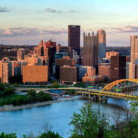 Pittsburgh Skyline at Sunset by Patrick Patterson (wiseyoda)) on 500px.com