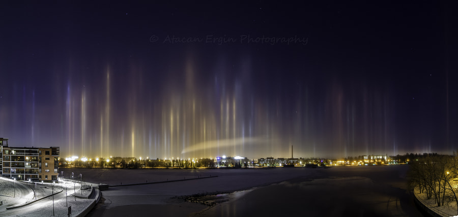 Photograph Light Pillars in Tampere by Atacan Ergin on 500px