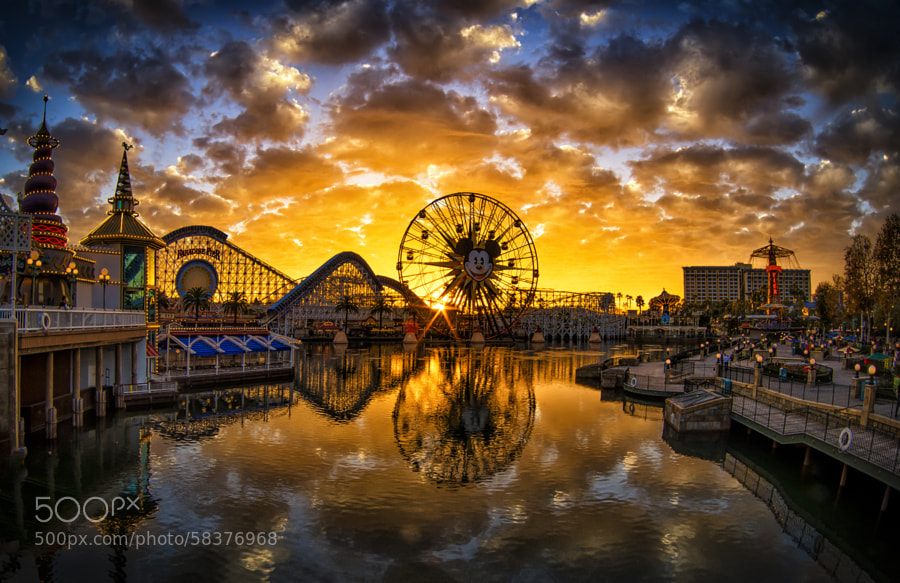 Photograph Paradise Pier Sunset by William McIntosh on 500px