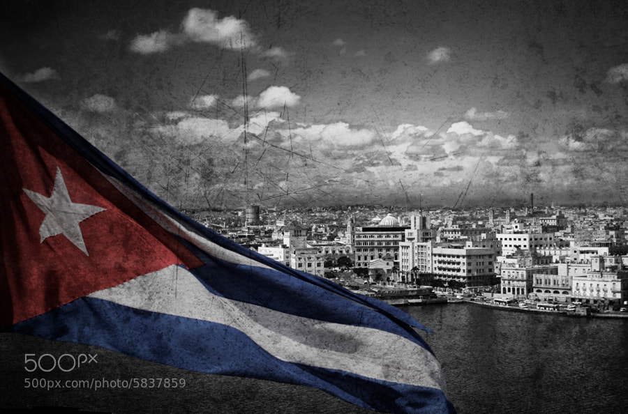 Photograph Cuban flag by Luca  Danesini on 500px