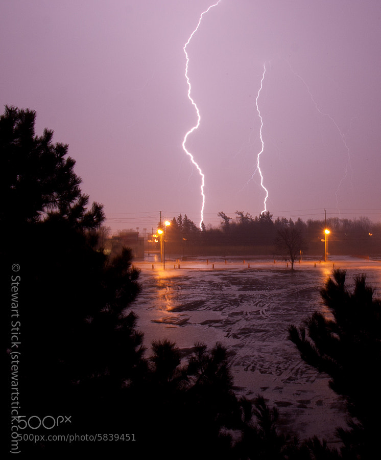 Lightning in Peterborough by Stewart Stick (stickshots) on 500px.com