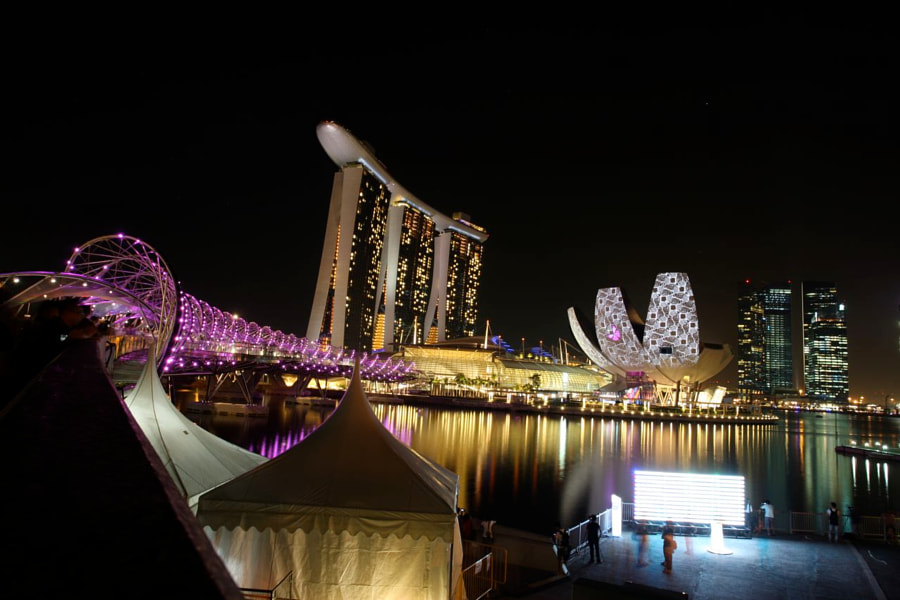 Marina Bay Waterfront of Singapore