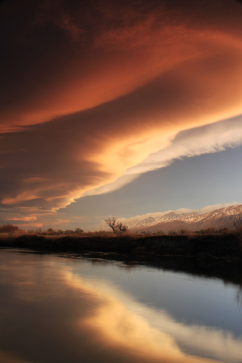 Photograph Sierra wave over the Owens river by bert dennison on 500px