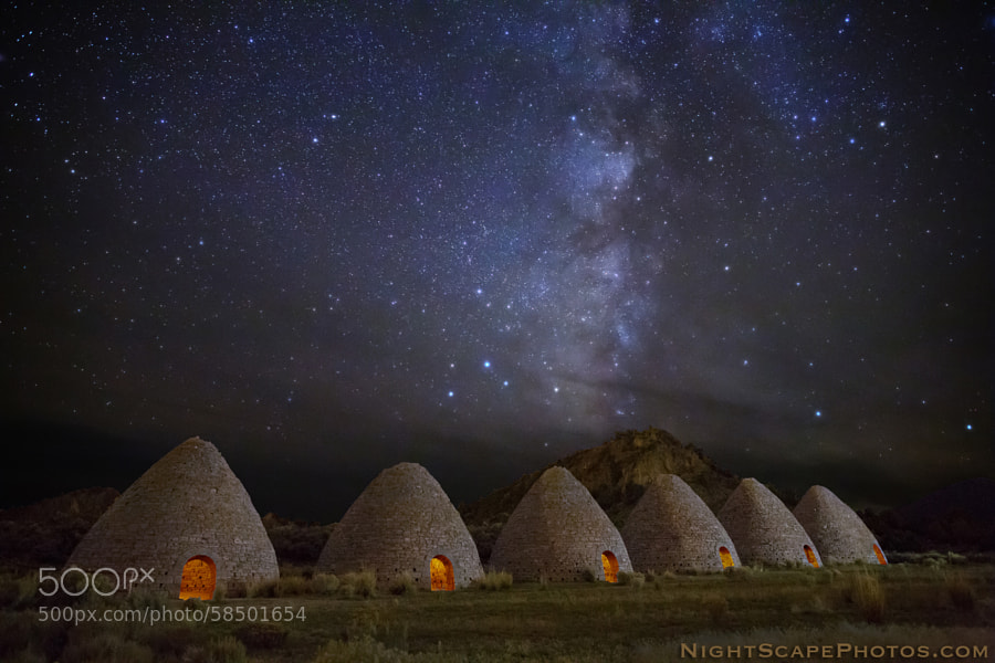 Photograph Stars over Historic Ward Charcoal ovens by Royce's NightScapes on 500px