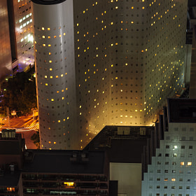 Various shapes of Tokyo architecture light up at night