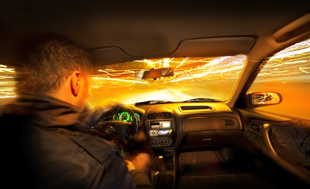Photograph Night driving by Valentijn Tempels on 500px