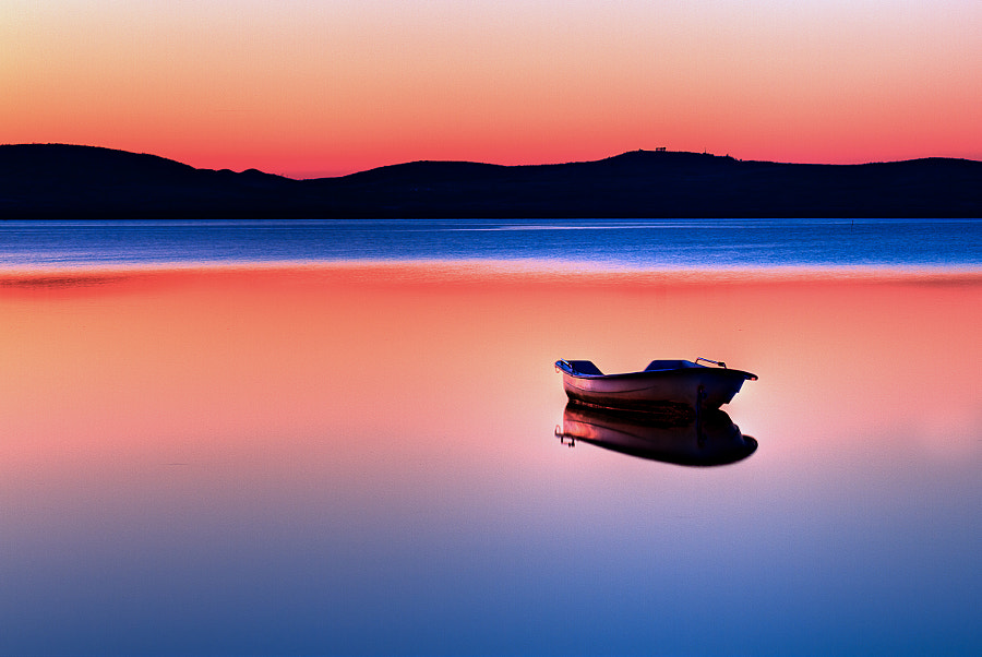 Photograph Boat in sunset by Gert Lavsen on 500px