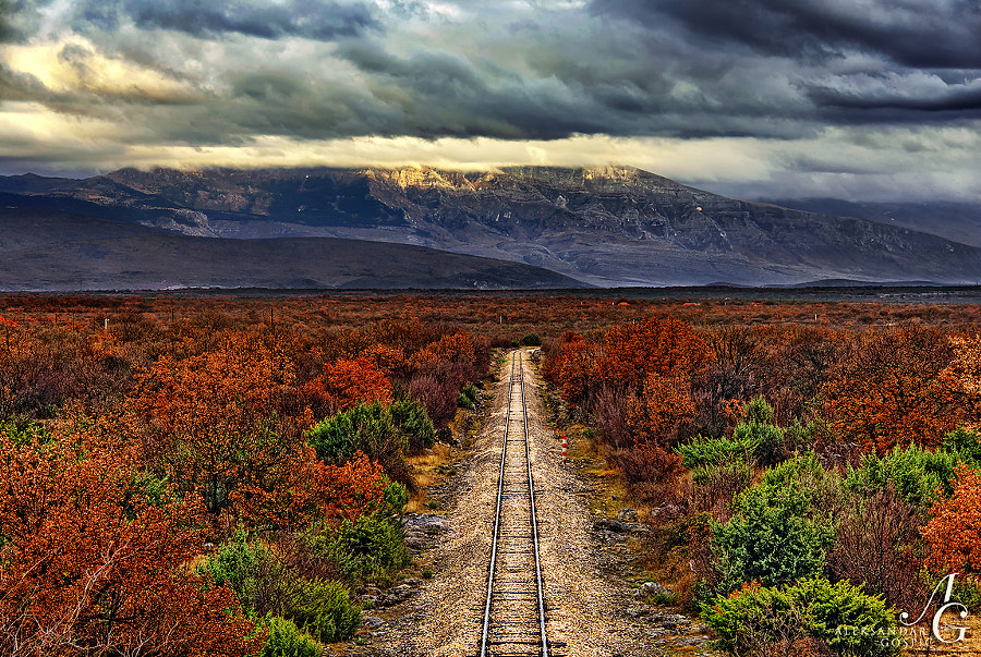 In a game of nerves between the railway tracks and Dinara mountain, railway tracks gave in first