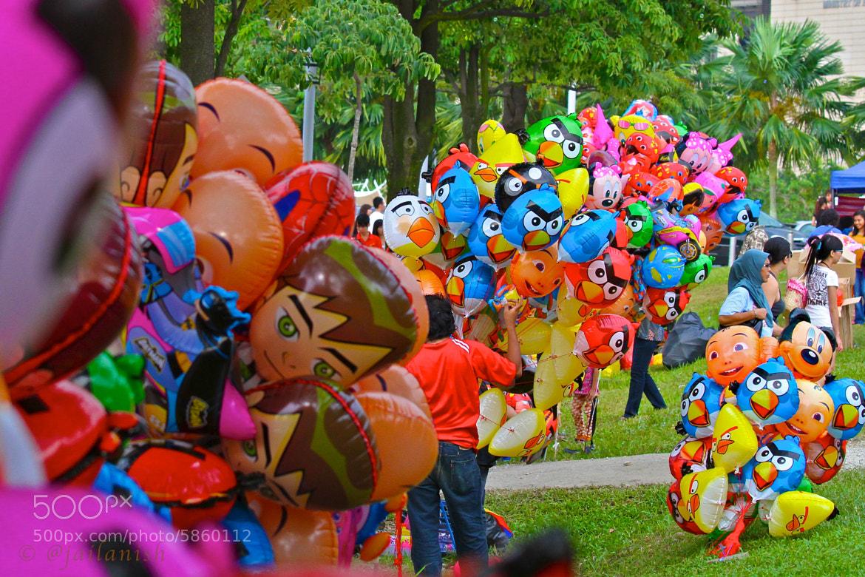 Photograph Angry Bird Balloons by Jai Soaidin on 500px