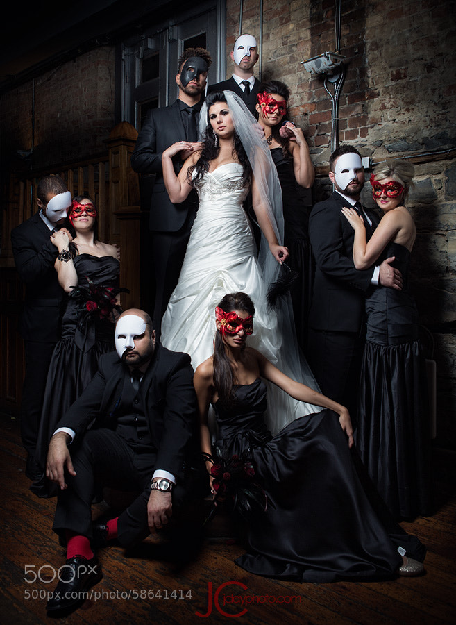 Photograph Masquerade Bride and Bridal Party by J Clay on 500px