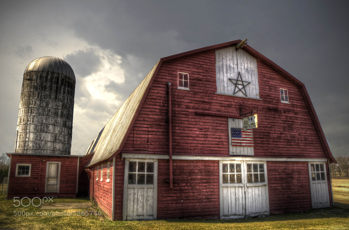 Photograph Big Old Barn With The Stars & Stripes by Brian Michaud on 500px