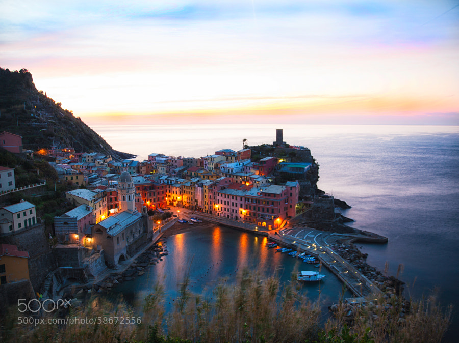 First light in Vernazza by Samuele Silva on 500px.com