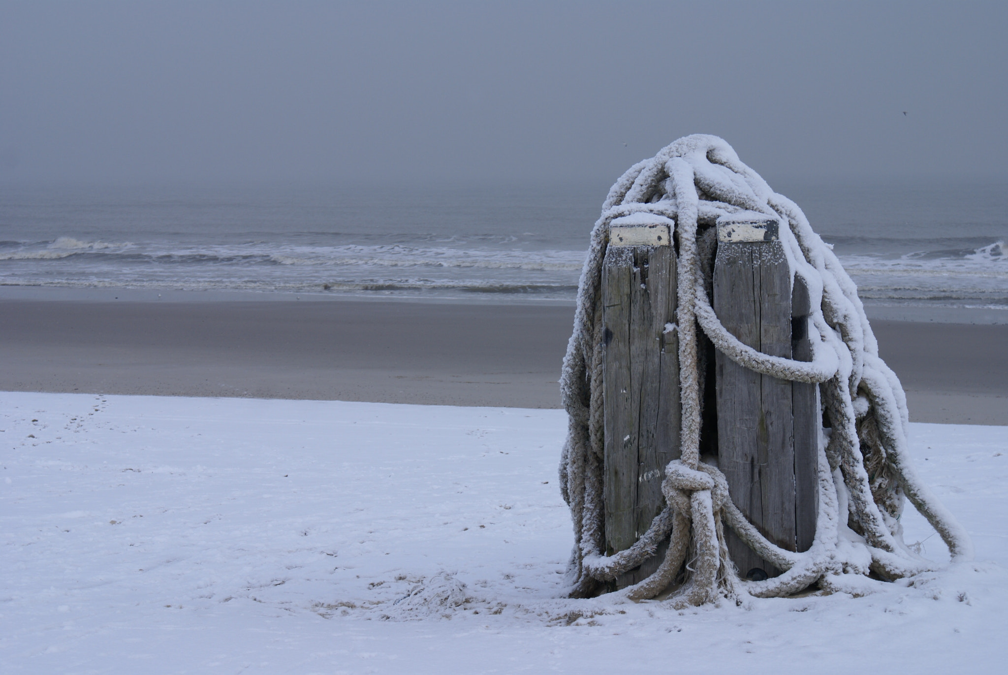Photograph Snow on the beach by Victoria Rodriguez on 500px