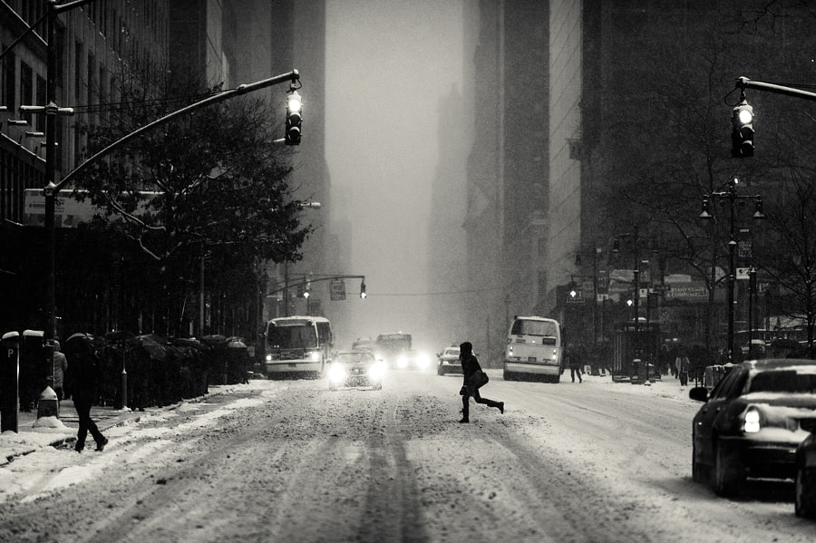 Photograph Manhattan Blizzard by Navid Baraty on 500px