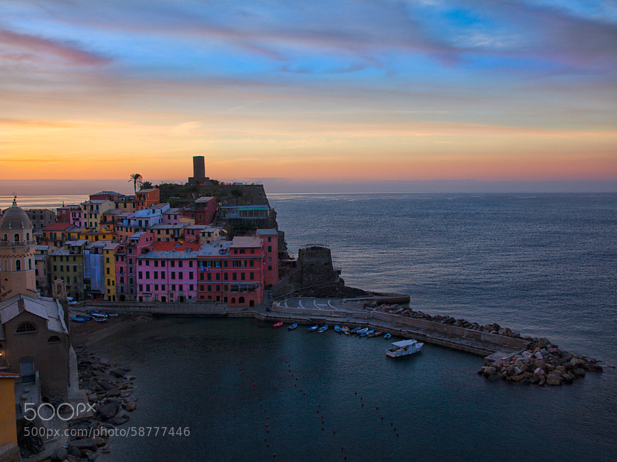 First light in Vernazza II by Samuele Silva on 500px.com