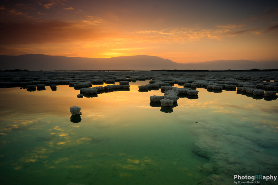 Sunrise on Dead Sea