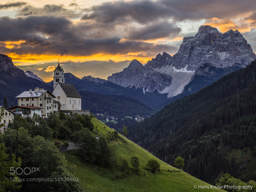 This photo was shot during the Dolomites East September 2013 photo workshop. There is a new Dolomites East photo workshop in September 2014 and also in late May 2014.  This photo was shot with a Phase One IQ160 digital back, DF+ camera and Phase One 75-150 lens as a single exposure.