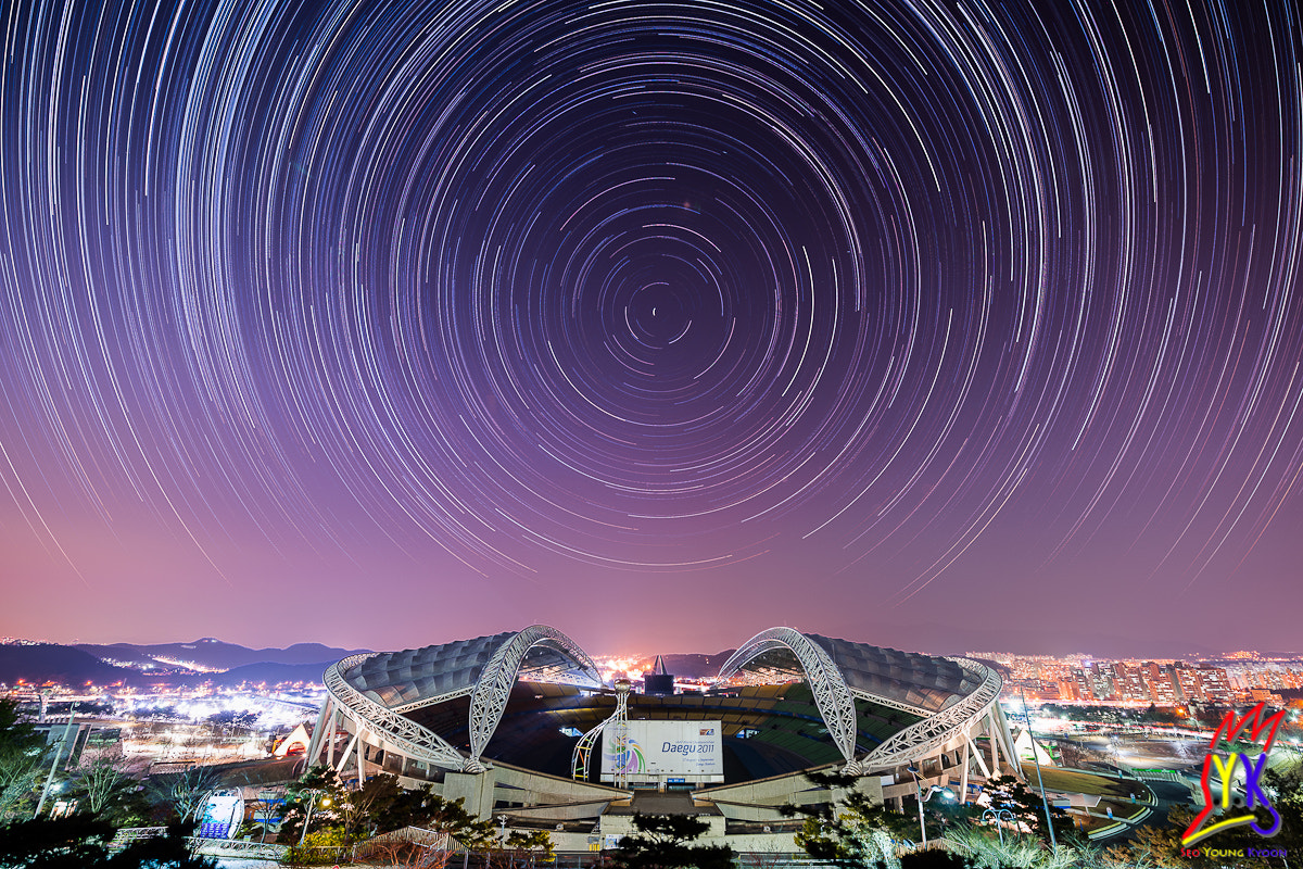 Photograph Starry night in Daegu Stadium by Young Gyoon Seo on 500px
