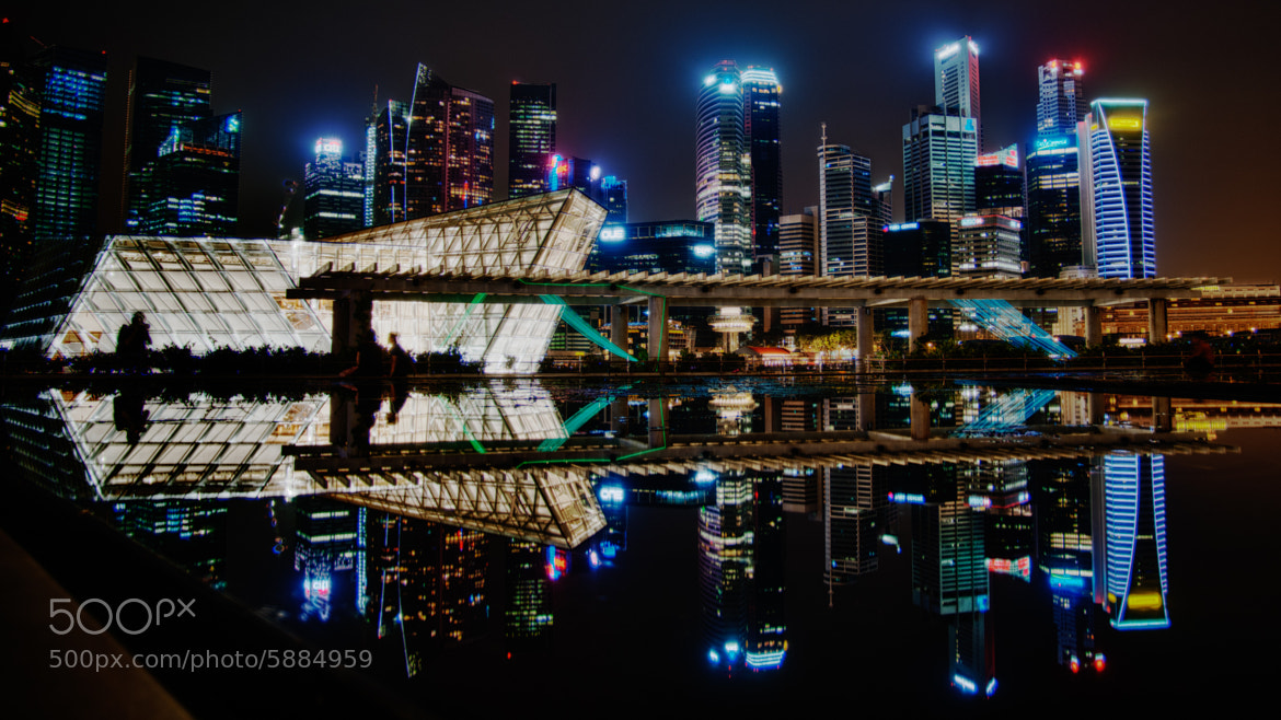 Photograph Singapore Cityscape at Night by Gordon Chiam on 500px