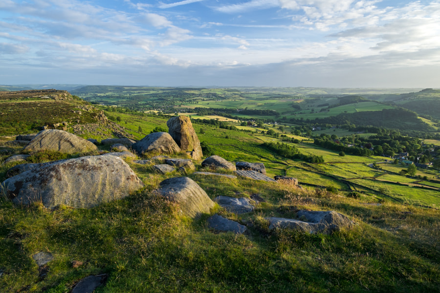 Evening Light at Curbar Edge