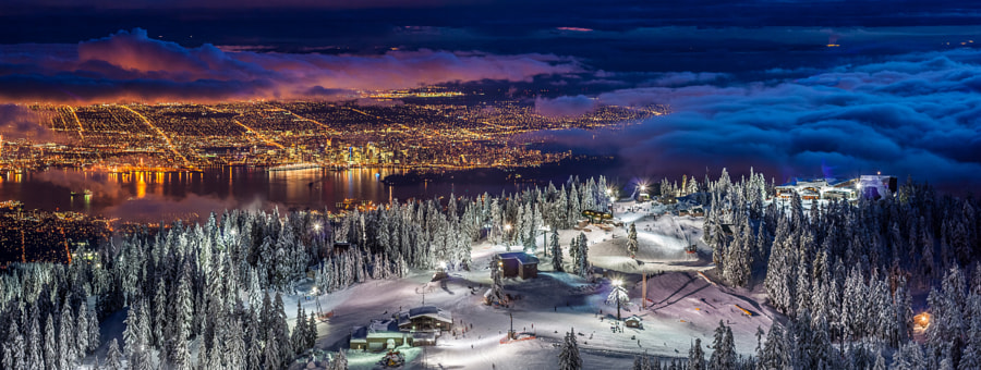 Vancouver city Panorama from the summit of Grouse Mountain by Pierre Leclerc on 500px.com